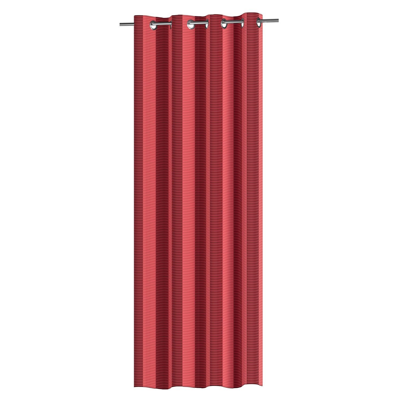 senschal vorhang blickdicht zweifarbig gestreift. Black Bedroom Furniture Sets. Home Design Ideas