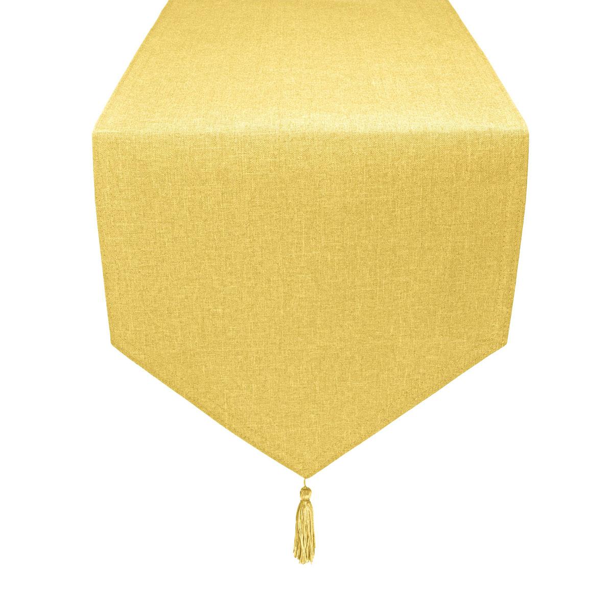 tischl ufer leinen optik gelb spitz fleckschutz gr e w hlbar. Black Bedroom Furniture Sets. Home Design Ideas