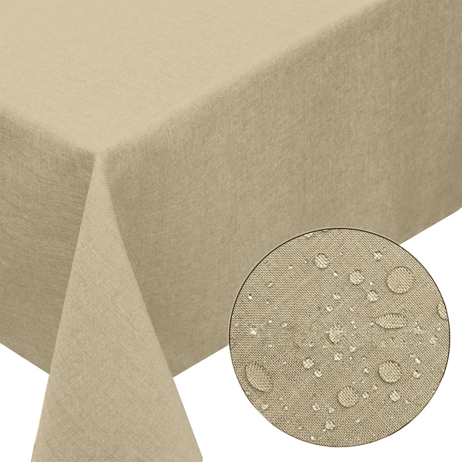 gartentischdecke leinen optik fleckschutz abwaschbar lotus eckig rund oval ebay. Black Bedroom Furniture Sets. Home Design Ideas